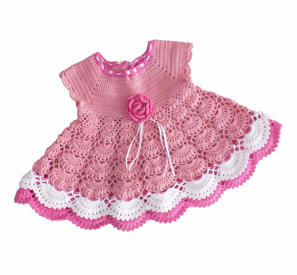 Bolsa De Festa Para Vestido Rosa : Vestido mariah de croch? infantil festa marrom e rosa r