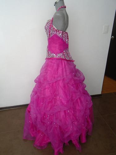 vestido mary´s quinceañera rosa mexicano talla 32