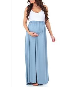 23afe7e0b Vestido Maternal En Jean en Mercado Libre Uruguay