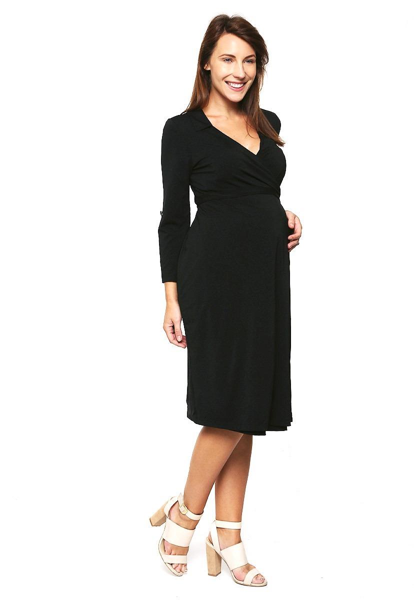 e69a181a8 Vestido Maternidad Y Lactancia Negro Ropa De Mujer -   620.00 en ...