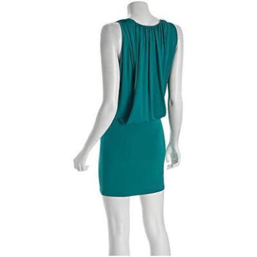 vestido max azria color esmeralda modelo yulia talla l
