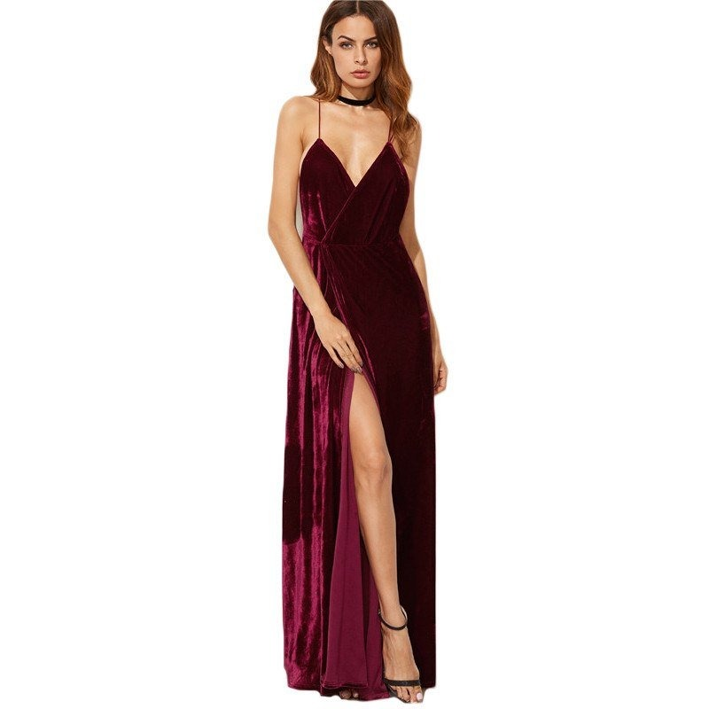 fdc6367467 vestido maxi noche fiesta cena largo eventos formal sexy. Cargando zoom.