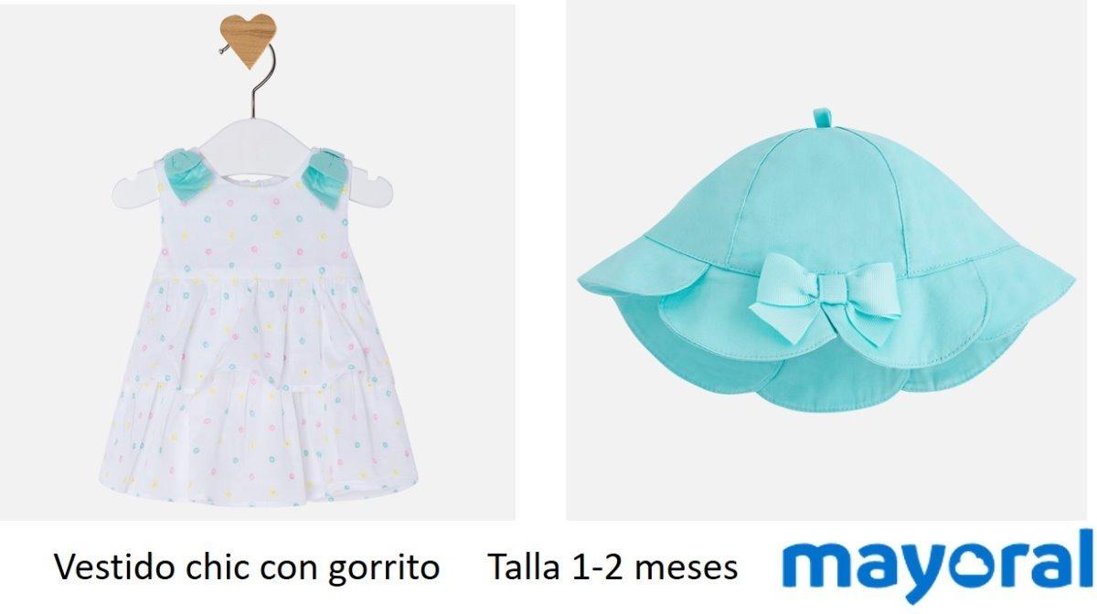 Vestido Mayoral Bebe 1-2 M Mod. 1850 Tropical Con Gorro - $ 1,279.00 ...
