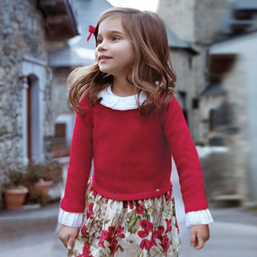 cc5081875 Vestido Mayoral Chic Niña Rojo Est. 4946 8 Años A