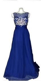 Vestido Mayqueen Talla 40 Azul Rey Fiesta Noche Graduación