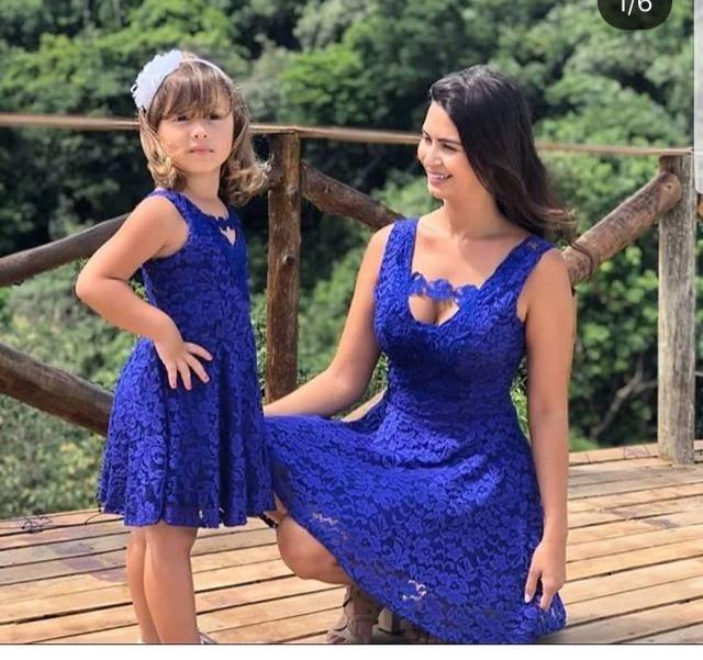 5985b7faf7c818 Vestido Mãe E Filha Natal Ano Novo Festas Aniversario Renda