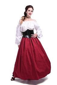 e1f957208 Vestido Medieval Para Mujer Vestido De Traje Victoriano Maid