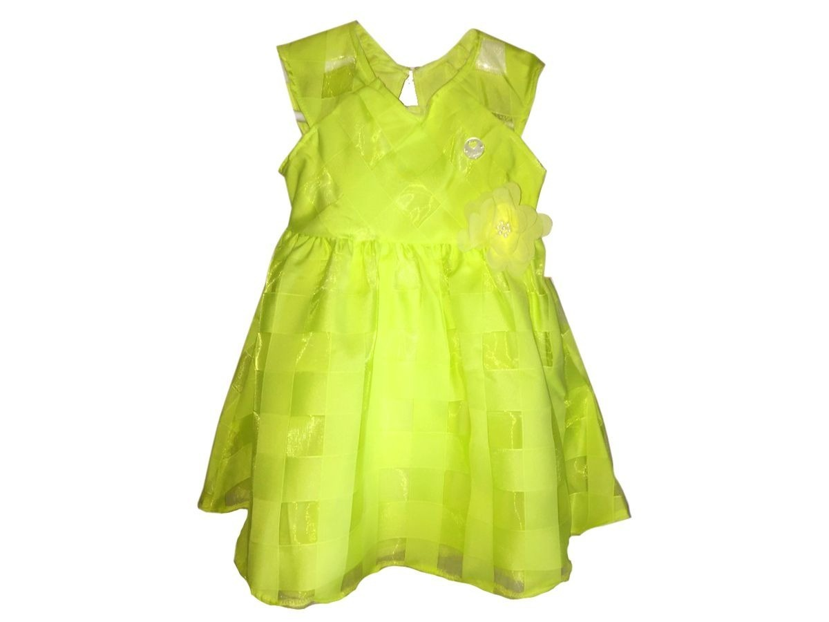 Vestido Menina Festa Infantil Milon Verde Claro Tamanho M