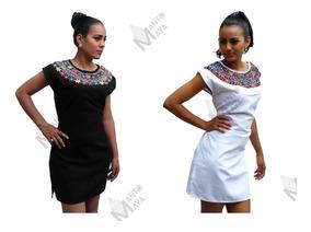 Vestidos Bordados Mexicanos Para Fiesta Mujer Cortos Corto