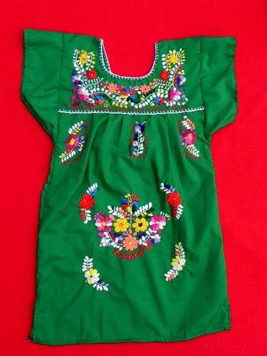 vestido mexicano, bordado a mano, resistente, cómodo, 4 años