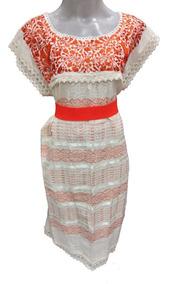 Vestidos Tradicionales Mexicanos Largos Mujer Vestidos De