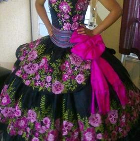 Vestido Mexicano Bordado De Xv Años