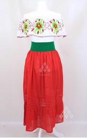 Lote De 12 Vestidos Mexicanos Fiestas Patrias Tricolor