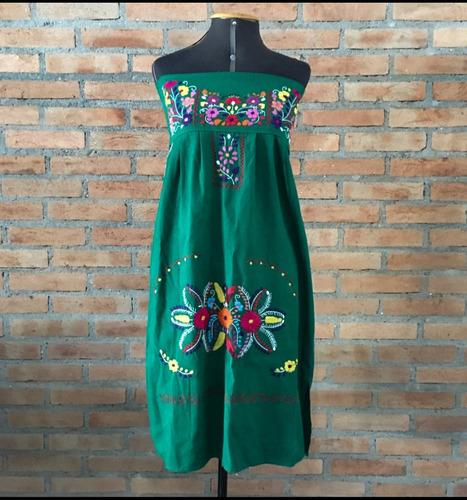 vestido mexicano longo tomara que caia bordado a mão varal