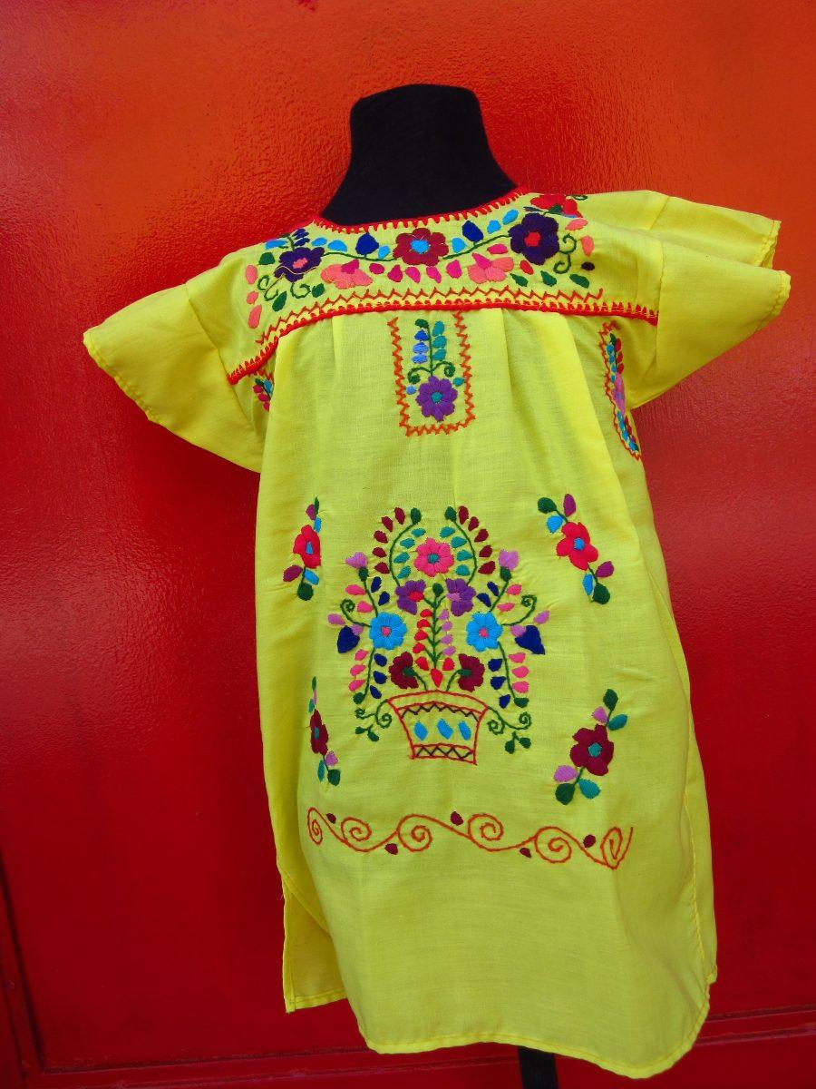 Vestido Mexicano Para Niña Talles De Nena