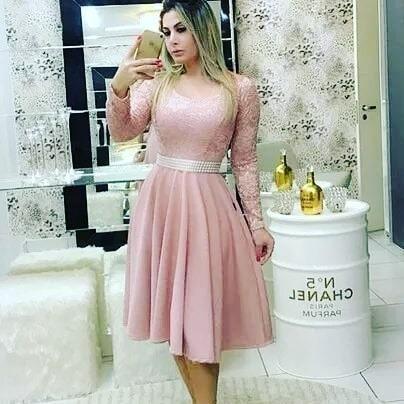 24bb58f0d Vestido Midi Boneca Renda Moda Evangélica Várias Cores - R$ 99,90 em ...