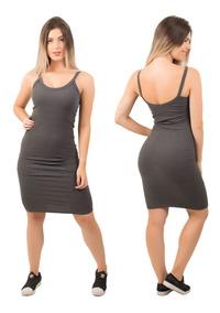 dffe2ee6ca Vestido Preto Alca Fina - Vestidos Femeninos Curto com o Melhores Preços no  Mercado Livre Brasil