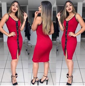 0a83de88e Vestido Midi Alcinha - Calçados, Roupas e Bolsas no Mercado Livre Brasil