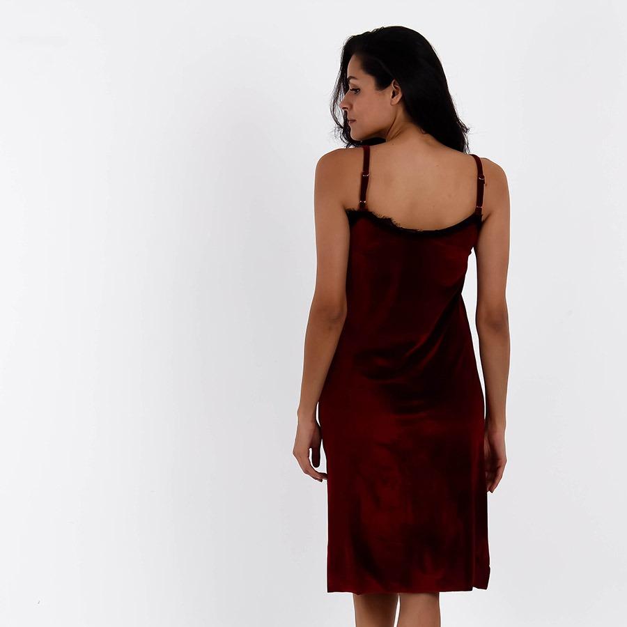 5a08121e11 vestido midi com renda feminino mixxon - vinho. Carregando zoom.