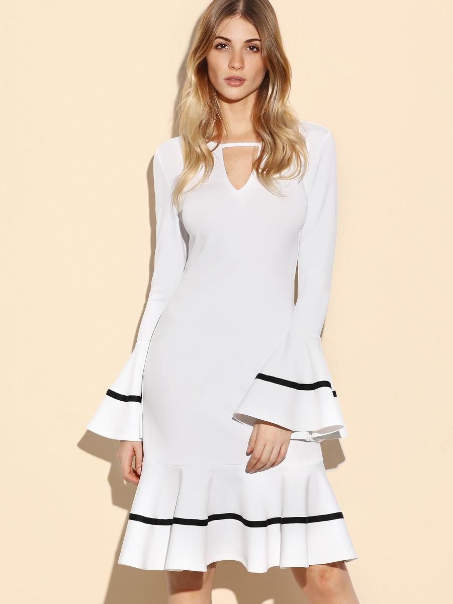 Vestido de fiesta blanco mercadolibre