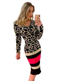 e2bbefc2937c Vestido Trico Moda Evangelica - Vestidos Femeninos com o Melhores Preços no  Mercado Livre Brasil