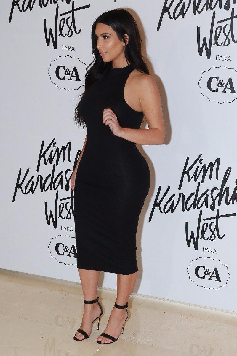 Vestido Midi Estilo Kim Kardashian Summer Collection