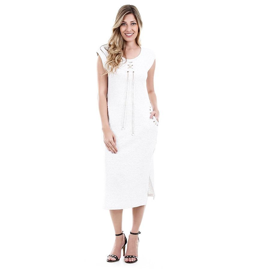 bccf336b9 vestido midi feminino facinelli - cinza. Carregando zoom.