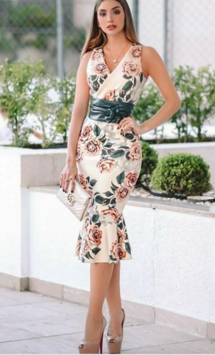 ec4ba27593 vestido midi feminino moda evangélica lapis. Carregando zoom.