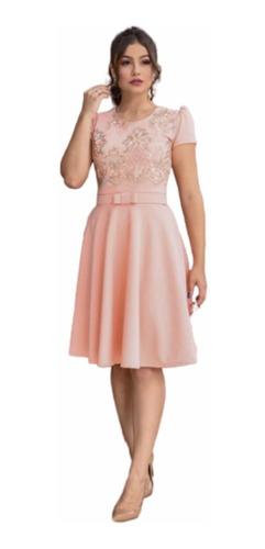 vestido midi godê moda evangélica cinto laço coleção limitad