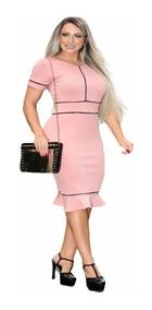 08b5f32fba79 Vestido Moda Evangelica Babado - Vestidos com o Melhores Preços no Mercado  Livre Brasil