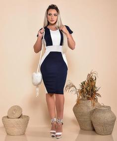 8502c1b9b Vestido Midi Lapis - Vestidos Femeninos com o Melhores Preços no Mercado  Livre Brasil