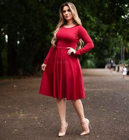 9a390395a Vestido Midi Evangelico - Vestidos Médios Femininas no Mercado Livre Brasil