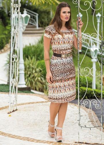vestido midi moda evangélica feminino estampado blogueira