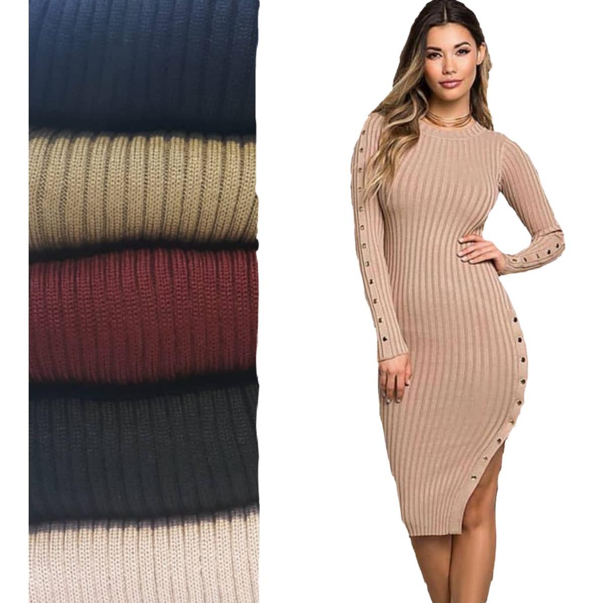 05e9e8879a68 vestido midi moda evangélica tricot moda inverno frio 2019. Carregando zoom.
