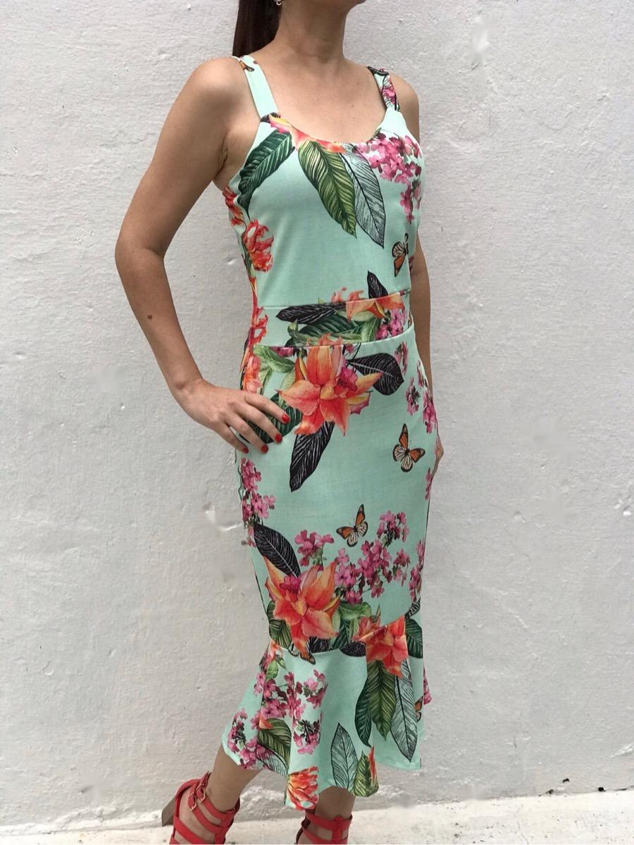 4134fce59 vestido midi sereia floral moda evangelica liquidacao verao. Carregando zoom .