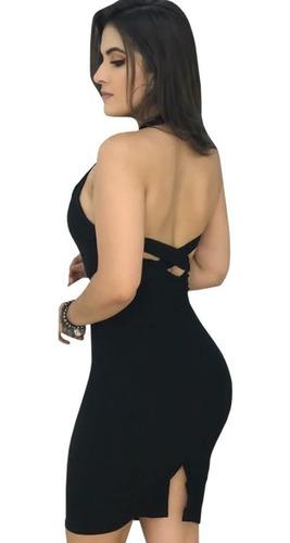 vestido midi tubinho social festa com bojo vma02