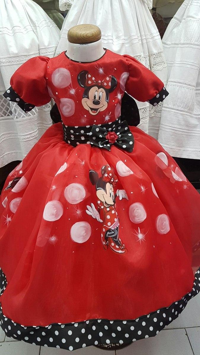 38ada5bf1 Vestido Mimi Minnie Mouse Disney Pintado A Mano Nupcialesdli ...
