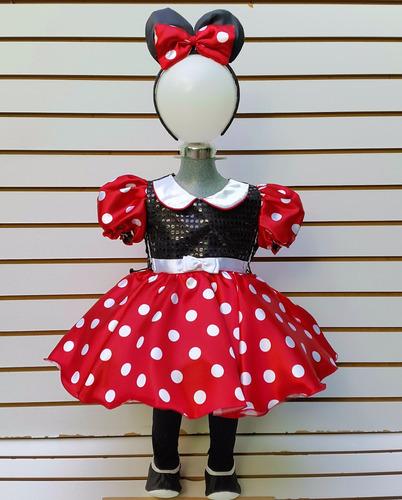 vestido mimi mouse talla 8 rojo minnie ratona mallas orejas