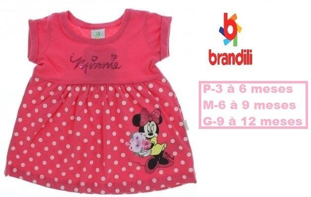 c4374087a10 Vestido Minie Bebê Brandili Detalhe Lantejoulas - R  39