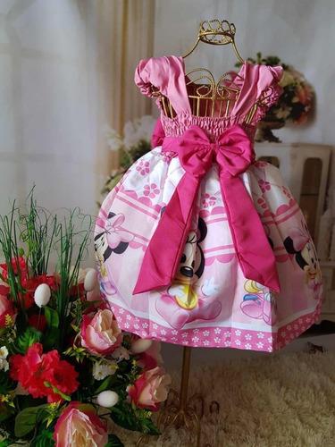 vestido minie rosa baby temático