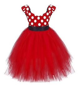 Vestido Minnie Bebes Disfraz Fiesta 1 A 2 Años