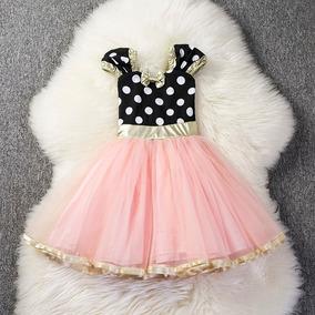 Vestido Minnie Con Detalles Dorados Agregar A Favoritos