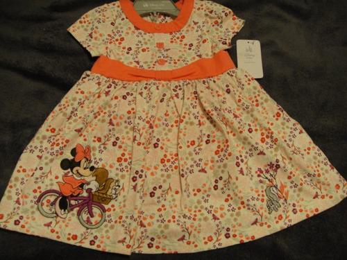 vestido minnie de disney talla 12-18 meses ( 955  )
