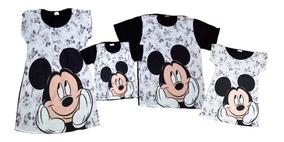 ed2068101f6f10 Vestido Minnie E Mickey - Kit Festa Mãe, Pai, Filho E Filha