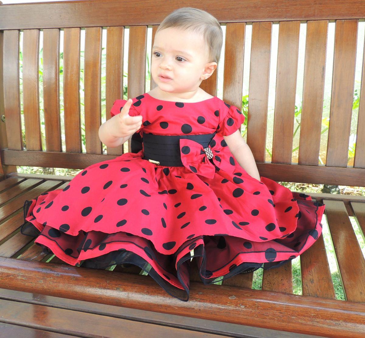 44fe808adf3 vestido minnie festa infantil vermelho com bolinhas pretas. Carregando zoom.