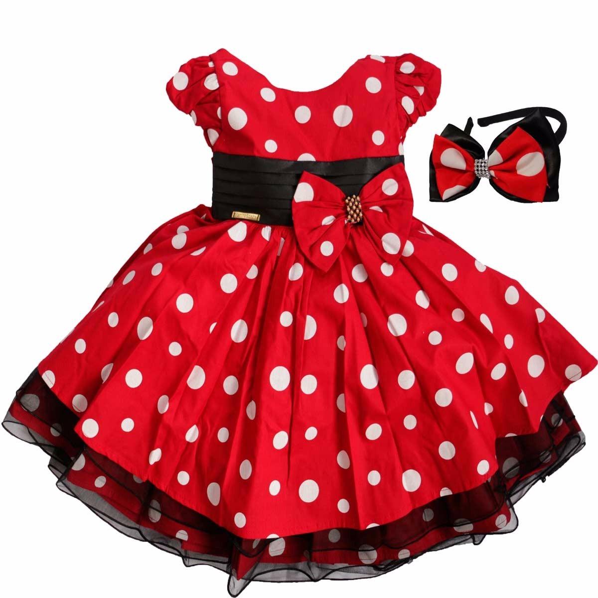 4a4e2d5089 vestido minnie infantil luxo fantasia para festa c/ tiara. Carregando zoom.