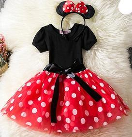 Vestido Minnie Mouse Rojo Talla 6 9 Meses