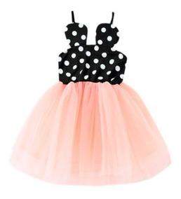 Vestido Minnie Para Niñas