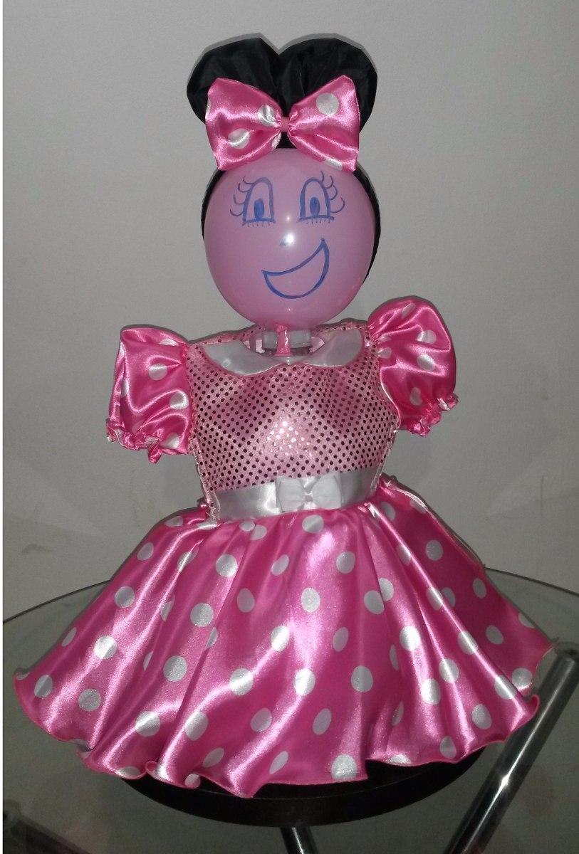 Vestido Minnie Rosa Y Minnie Rojo Para Bebé Y Niña