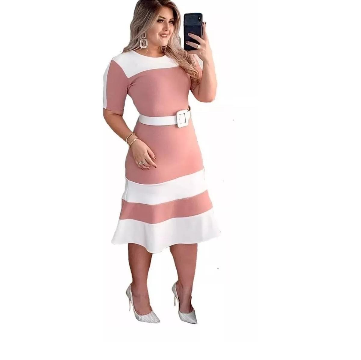 55ac623a37 vestido moda evangelica midi moda jovem roupas femininas. Carregando zoom.